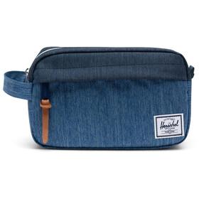 Herschel Chapter Carry On Travel Kit, faded denim/indigo denim